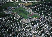 Aerial, Somerset, Southwest PA, School and Neighborhood Aerial Photograph Pennsylvania