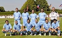 Fotball<br /> Frankrike<br /> Foto: Dppi/Digitalsport<br /> NORWAY ONLY<br /> <br /> FOOTBALL - FRIENDLY GAMES 2008/2009 - SM CAEN v LE MANS UC - 23/07/2008 - TEAM CAEN ( BACK ROW LEFT TO RIGHT : ALEXANDRE RAINEAU / JEREMY SORBON / REYNALD LEMAITRE / NICOLAS SEUBE / VINCENT PLANTE . FRONT ROW : STEEVE SAVIDAN / ANTHONY DEROIN / JUAN PABLO ELUCHANS / BENJAMIN NIVET / NICOLAS FLORENTIN / GREGORY PROMENT )<br /> <br /> Lagbilde Caen