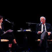 Author David McCullough speaks with host Virginia Prescott in a Writers on a New England Stage presentation at The Music Hall in Portsmouth, NH