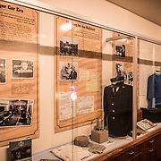 An exhibit of historic railway artefacts on display at the Colorado Railroad Museum in Golden, Colorado.