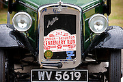 Austin Seven Saloon Deluxe car at classic car rally at Brize Norton in Oxfordshire, UK