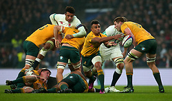 Will Genia of Australia passes the ball - Mandatory by-line: Robbie Stephenson/JMP - 18/11/2017 - RUGBY - Twickenham Stadium - London, England - England v Australia - Old Mutual Wealth Series