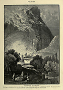 Wady Barada, from Bessima Engraving on Wood from Picturesque Palestine, Sinai and Egypt by Wilson, Charles William, Sir, 1836-1905; Lane-Poole, Stanley, 1854-1931 Volume 2. Published in New York by D. Appleton in 1881-1884