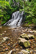 Falls on the Chase River in Nanaimo, British Columbia, Canada