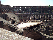 The Roman Collosseum (also known as the Flavian Amphitheatre), an elliptical amphitheatre in the centre of Rome, Italy. Considered one of the greatest works of Roman architecture and engineering. Built from concrete and stone, with construction starting under the emperor Vespasian in 70 AD, finished in 80 AD under Titus. The amphitheatre also underwent modifications during the reign of Domitian. Named for its association with the Flavius family name of which these 3 emperors belonged. The Collosseum seated 50,000 spectators to view gladiatorial contests and performances. It was later repurposed for many other uses. One of the outstanding physical representations of Imperial Rome.
