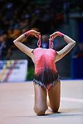 Gilda De Vecchis atleta della Società Ritmica Nervianese durante la seconda prova del Campionato Italiano di Ginnastica Ritmica.<br /> La gara si è svolta a Desio il 31 ottobre 2015.