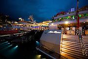 May 22, 2014: Monaco Grand Prix: Indian Empress, Vjay Mallya's private yacht in Monaco Harbor.