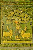 Inde, Rajasthan, Jaipur la ville rose, le City Palace, le Pitam Niwas Chowk, la porte Verte // India, Rajasthan, Jaipur the Pink City, the City Palace, the Pitam Niwas Chowk, Green door
