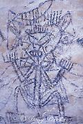 pictograph in Cueva Arena, Los Haitises National Park, Samana, Dominican Republic ( Caribbean Sea )