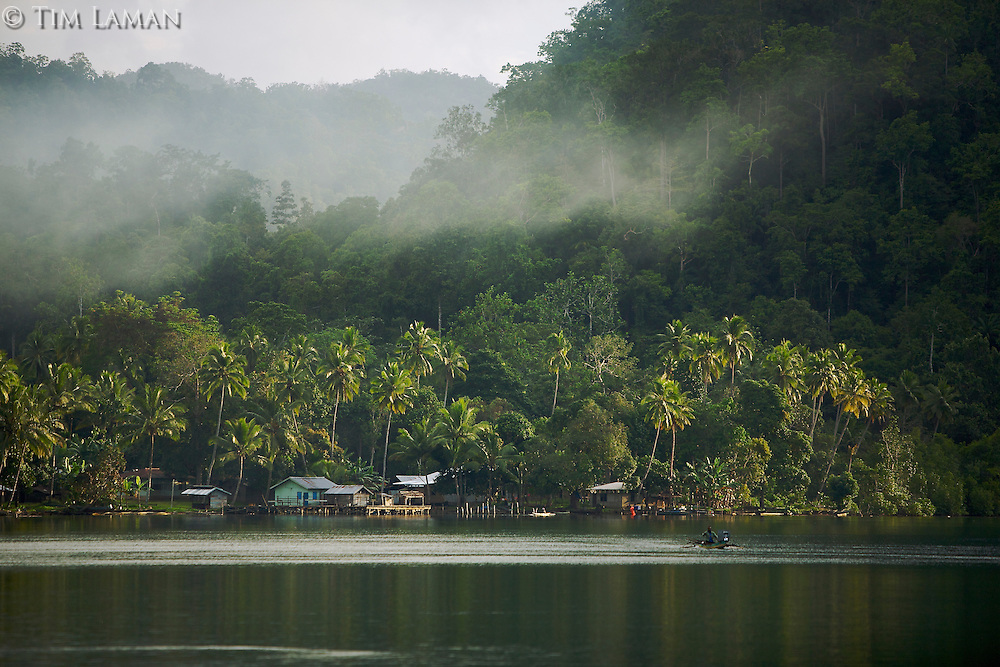A village near the entrance to Mayalibit Bay..This is an area of Waigeo Island visited by Alfred Russel Wallace in the 1850's.