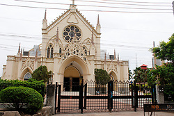 March 22, 2020, Lagos, Lagos, Nigeria: Holy Cross Cathedral in Lagos, Nigeria on , March 22, 2020 shut out members. In order to curtail the spread of coronavirus (COVID -19) Lagos State has restricted people's gathering to maximum of 50. (Credit Image: © Adekunle Ajayi/NurPhoto via ZUMA Press)