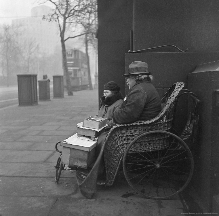 Beggar in a Bath Chair, London, 1935