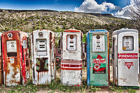 """Five Old Pumps"" - New Mexico<br /> <br /> This is a 3-photo HDR image. I processed the RAW files in Lightroom and used Nik's HDR Efex Pro to do the tonemapping."