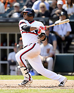 CHICAGO - SEPTEMBER 10:  Rymer Liriano #48 of the Chicago White Sox bats against the San Francisco Giants on September 10, 2017 at Guaranteed Rate Field in Chicago, Illinois.  The White Sox defeated the Giants 8-1.  (Photo by Ron Vesely) Subject:   Rymer Liriano