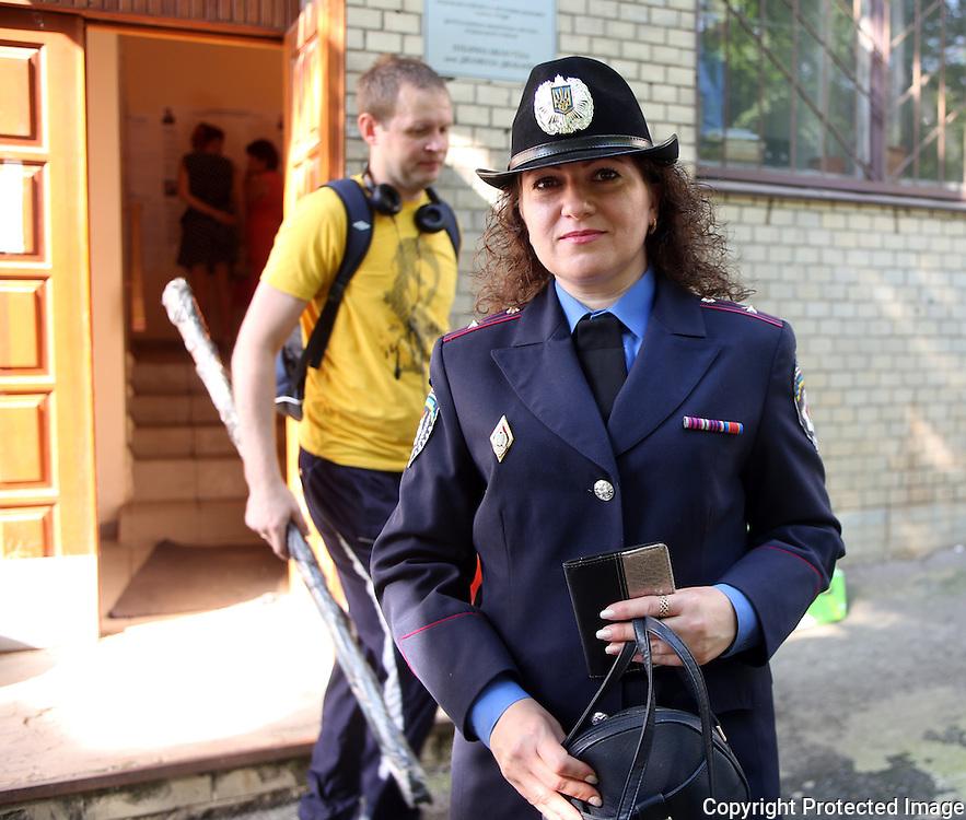 Ukraine Diary: Sunday 25 May 2014 Ukrainian Presidential Elections. Olena Tychyna Academy of the Interior<br /> Photo Bohdan Warchomij