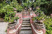 Stairs in the Jardim do Sao Francisco or Sao Francisco Garden in Macau.