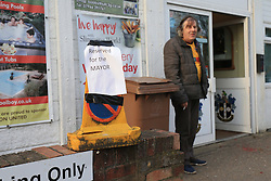 20 February 2017 - The FA Cup - (5th Round) - Sutton United v Arsenal - A parking space reserved for the Mayor of Sutton outside the club shop - Photo: Marc Atkins / Offside.