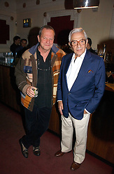Left to right, TERRY GILLIAM and set designer KEN ADAM  at Grand Classics, London: Screening of Dr Strangelove held at The Electric Cinema, Portobello Road, London on 3rd May 2006.<br /><br />NON EXCLUSIVE - WORLD RIGHTS