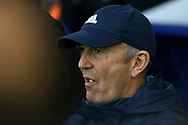 West Bromwich Albion Manager Tony Pulis looks on from the dugout. Premier league match, Everton v West Bromwich Albion at Goodison Park in Liverpool, Merseyside on Saturday 11th March 2017.<br /> pic by Chris Stading, Andrew Orchard sports photography.