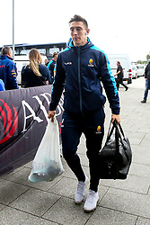 Josh Adams of Worcester Warriors arrives at The AJ Bell Stadium for his side's Gallagher Premiership fixture against Sale Sharks - Mandatory by-line: Robbie Stephenson/JMP - 09/09/2018 - RUGBY - AJ Bell Stadium - Manchester, England - Sale Sharks v Worcester Warriors - Gallagher Premiership