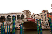 Rialto Bridge spanning the Grand Canal, Venice, Italy