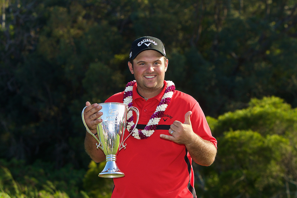 January 12 2015: Winner Patrick Reed after the Final Round of the Hyundai Tournament of Champions at Kapalua Plantation Course on Maui, HI.