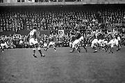 Irish Rugby Football Union, Ireland v Wales, Five Nations, Landsdowne Road, Dublin, Ireland, Saturday 9th March, 1968,.9.3.1968, 3.9.1968,..Referee- M H Titcomb, Rugby Football Union, ..Score- Ireland 9 - 6 Wales, ..Irish Team, ..T J Kiernan,  Wearing number 15 Irish jersey, Captain of the Irish team, Full Back, Cork Constitution Rugby Football Club, Cork, Ireland,..A T A Duggan, Wearing number 14 Irish jersey, Right Wing, Landsdowne Rugby Football Club, Dublin, Ireland,..B A P O'Brien, Wearing number 13 Irish jersey, Right Centre, Shannon Rugby Football Club, Limerick, Ireland,..F P K Bresnihan, Wearing number 12 Irish jersey, Left Centre, University College Dublin Rugby Football Club, Dublin, Ireland, ..J C M Moroney, Wearing number 11 Irish jersey, Left Wing, London Irish Rugby Football Club, Surrey, England, ..C M H Gibson, Wearing number 10 Irish jersey, Stand Off, N.I.F.C, Rugby Football Club, Belfast, Northern Ireland, ..R M Young, Wearing number 9 Irish jersey, Scrum Half, Queens University Rugby Football Club, Belfast, Northern Ireland,..K G Goodall, Wearing number 8 Irish jersey, Forward, City of Derry Rugby Football Club, Derry, Northern Ireland,..T J Doyle, Wearing number 7 Irish jersey, Forward, Wanderers Rugby Football Club, Dublin, Ireland, ..M G Doyle, Wearing number 6 Irish jersey, Forward, Blackrock College Rugby Football Club, Dublin, Ireland, ..W J McBride, Wearing number 5 Irish jersey, Forward, Ballymena Rugby Football Club, Antrim, Northern Ireland,..M G Molloy, Wearing number 4 Irish jersey, Forward, University College Galway Rugby Football Club, Galway, Ireland,  ..P O'Callaghan, Wearing number 3 Irish jersey, Forward, Dolphin Rugby Football Club, Cork, Ireland, ..A M Brady, Wearing number 2 Irish jersey, Forward, Malone Rugby Football Club, Belfast, Northern Ireland, ..S Millar, Wearing number 1 Irish jersey, Forward, Ballymena Rugby Football Club, Antrim, Northern Ireland,..D Rees, Wearing number 15 Welsh jersey, Full Back, Swansea Rugby F