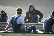 Putney, London,  Tideway Week, Championship Course. River Thames,  Oxford UBC. Chief Coach, Sean BOWDEN, <br /> Tuesday  28/03/2017<br /> [Mandatory Credit; Credit: Peter Spurrier/Intersport Images.com ]