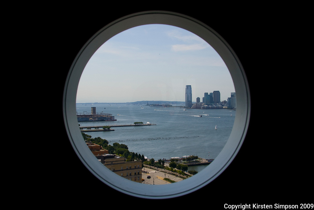 View of the Hudson and the Statue of Liberty from The Standard Hotel