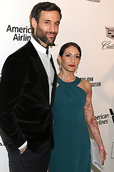 February 24, 2019 - West Hollywood, CA, USA - LOS ANGELES - FEB 24:  Rik Makarem, Kathy Xydis at the Elton John Oscar Viewing Party on the West Hollywood Park on February 24, 2019 in West Hollywood, CA (Credit Image: © Kay Blake/ZUMA Wire)