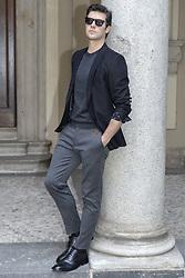 May 2, 2019 - Milan, italy - Milan. Roberto Bolle at the On Dance Press Conference In the Photo: Roberto Bolle Roberto Bolle wearing a Dolce & Gabbana dress (Credit Image: © Riccardo Giordano/IPA via ZUMA Press)