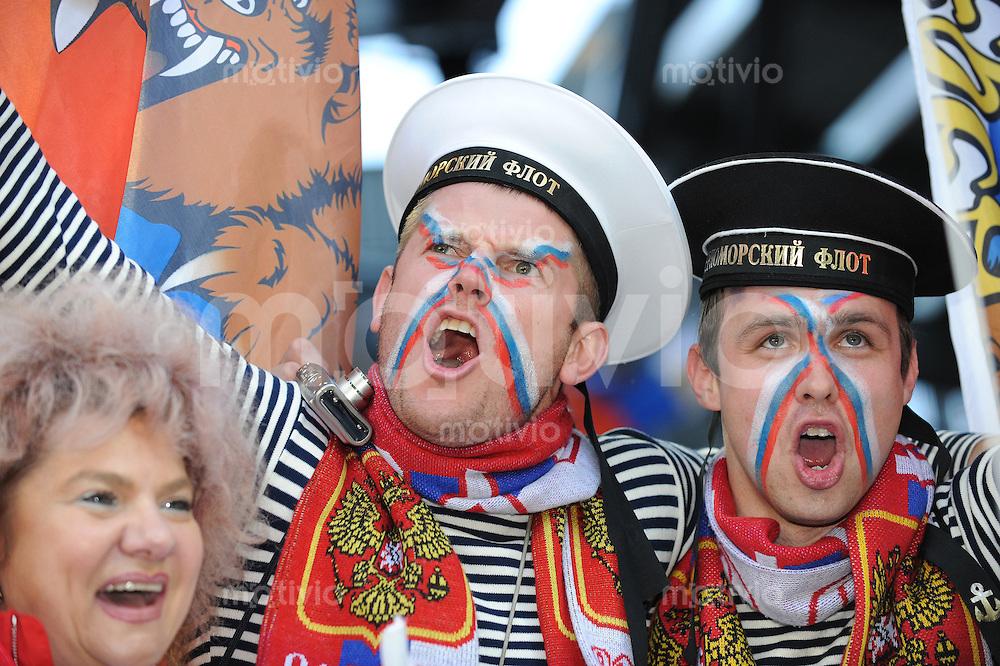 FUSSBALL EUROPAMEISTERSCHAFT 2008  Russland - Schweden    18.06.2008 Russische Fans feiern.