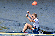 Sarasota. Florida USA. Men's Single Sculls. Medalist.  Silver Medalist. CUB M1X. FOURNIER RODRIGUEZ, Angel,  Gold Medalist, CZE M1X. SYNEK, Ondrej, and Bronze Medalist GBR M1X, Tom BARRAS. Sunday Final's Day at the  2017 World Rowing Championships, Nathan Benderson Park<br /> <br /> Sunday  01.10.17   <br /> <br /> [Mandatory Credit. Peter SPURRIER/Intersport Images].<br /> <br /> <br /> NIKON CORPORATION -  NIKON D4S  lens  VR 500mm f/4G IF-ED mm. 200 ISO 1/640/sec. f 8