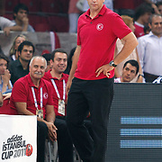 Turkey's coach Orhun ENE during their Istanbul CUP 2011match played Turkey between New Zeland at Abdi Ipekci Arena in Istanbul, Turkey on 24 August 2011. Photo by TURKPIX