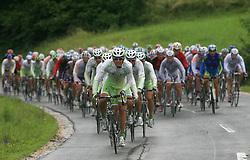 Gregor Gazvoda of Slovenia (Perutnina Ptuj) leading the peloton in last 4th stage of the 15th Tour de Slovenie from Celje to Novo mesto (157 km), on June 14,2008, Slovenia. (Photo by Vid Ponikvar / Sportal Images)/ Sportida)