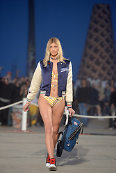 Devon Windsor walks the runway at the TommyLand Tommy Hilfiger Spring 2017 Fashion Show on February 8, 2017 in Venice, Los Angeles, CA, USA. Photo by Lionel Hahn/ABACAPRESS.COM