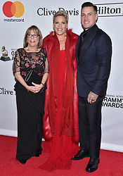 Pink attends the Clive Davis and Recording Academy Pre-GRAMMY Gala and GRAMMY Salute to Industry Icons Honoring Jay-Z on January 27, 2018 in New York City.. Photo by Lionel Hahn/ABACAPRESS.COM