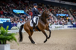 KITTEL Patrik (SWE), Delaunay OLD<br /> Göteborg - Gothenburg Horse Show 2019 <br /> FEI Dressage World Cup™ Final II<br /> Grand Prix Freestyle/Kür<br /> Longines FEI Jumping World Cup™ Final and FEI Dressage World Cup™ Final<br /> 06. April 2019<br /> © www.sportfotos-lafrentz.de/Stefan Lafrentz