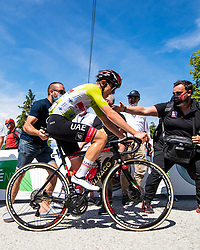 Tadej POGACAR of UAE TEAM EMIRATES in the finish during the 4th Stage of 27th Tour of Slovenia 2021 cycling race between Ajdovscina and Nova Gorica (164,1 km), on June 12, 2021 in Slovenia. Photo by Matic Klansek Velej / Sportida
