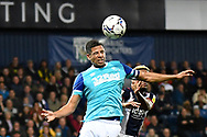 Derby County defender Curtis Davies (33) heads the ball during the EFL Sky Bet Championship match between West Bromwich Albion and Derby County at The Hawthorns, West Bromwich, England on 14 September 2021.