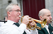 08/07/2018  repro  free: Members of ST Patrick's Brass band performing at The National Day of Commemoration Ceremony at NUI Galway in honour of all those  Irishmen and Irish Women who served in past wars or on Service with the UN.Photo:Andrew Downes, XPOSURE