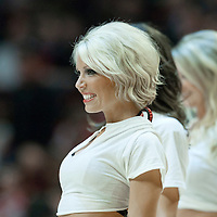 04 May 2011: Luvabulls dancer Carissa Frame performs during the Chicago Bulls 86-73 victory over the Atlanta Hawks, during game 2 of the Eastern Conference semi finals at the United Center, Chicago, Illinois, USA.