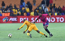 SOUTH AFRICA: JOHANNESBURG: Kaizer Chiefs player Williard Katsande battle for the ball with Black Leopards FC player Eden Nene during the ABSA premiership at the FNB stadium, Gauteng.<br />Picture: Itumeleng English/African News Agency (ANA)