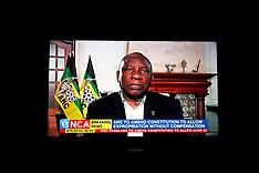RSA President Cyril Ramaphosa on TV on Land expropriation - 31 July 2018
