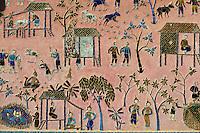 Laos, Province de Luang Prabang, ville de Luang Prabang, Patrimoine mondial de l'UNESCO depuis 1995, temple Wat Xieng Thong, personnage en verre // Laos, Luang Prabang province, city of Luang Prabang, World heritage of UNESCO since 1995, Wat Xieng Thong temple, mosaic of glass