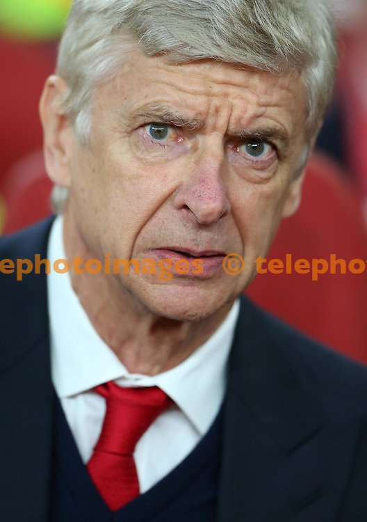 Arsenal's Manager Arsene Wenger seen during the UEFA Champions League match between Arsenal and Ludogorets Razgrad at the Emirates Stadium in London. October 19, 2016.<br /> James Boardman / Telephoto Images<br /> +44 7967 642437