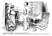 """Futurist painter (delightedly). """"I've sold this one, Mrs Biggs."""" Landlady. """"Us ought to go shares then. Some o' them smudges I did when I was 'avin' a dust round."""""""