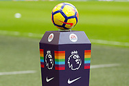 match ball with rainbow lace during the Premier League match between Tottenham Hotspur and West Bromwich Albion at Wembley Stadium, London, England on 25 November 2017. Photo by Andy Walter.