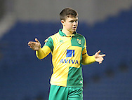 Norwich City's Glenn Middleton during the Barclays U21 Premier League Cup match between Brighton U21 and U21 Norwich City at the American Express Community Stadium, Brighton and Hove, England on 12 November 2015.
