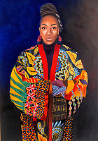Coventry city of culture 2021 the  Ruth Borchard Collection's Self-Portrait Prize 2021 (merissa hylton)at the coventry cathedral. The Prize is the only art competition of its kinds to focus exclusively on self-portraiture.